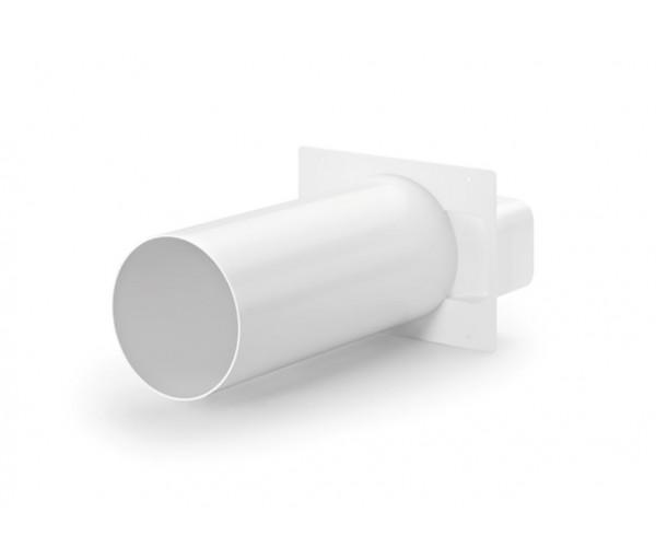 Serie 150 accesorio convierte rectangular a redondo ref for Tubo campana extractora rectangular
