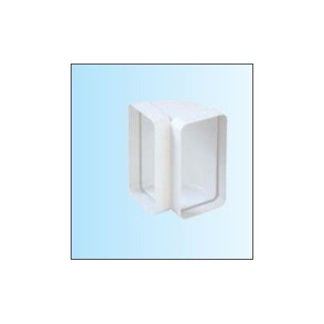TECSY-AIR TEC408 OPTIMO 125 codo vertical rectangular 150x70